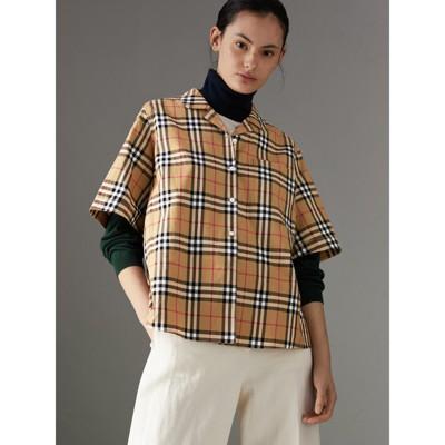 Burberry Short-sleeve Vintage Check Shirt Sale For Cheap Ro0lFabmuH
