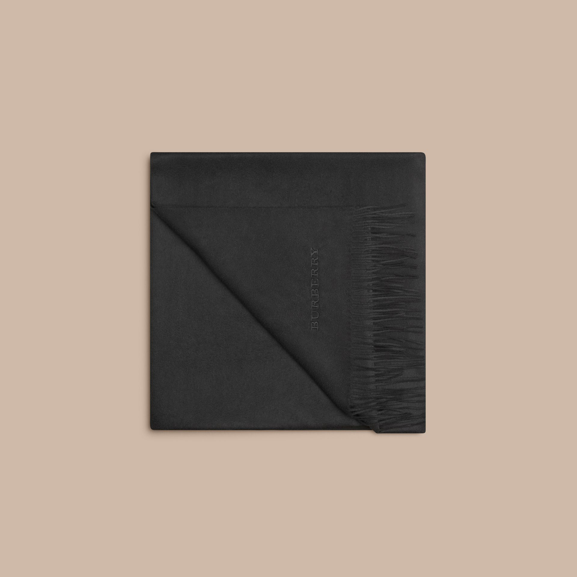 Black Cashmere Blanket Black - gallery image 4
