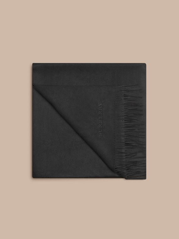 Cashmere Blanket in Black | Burberry Hong Kong - cell image 3
