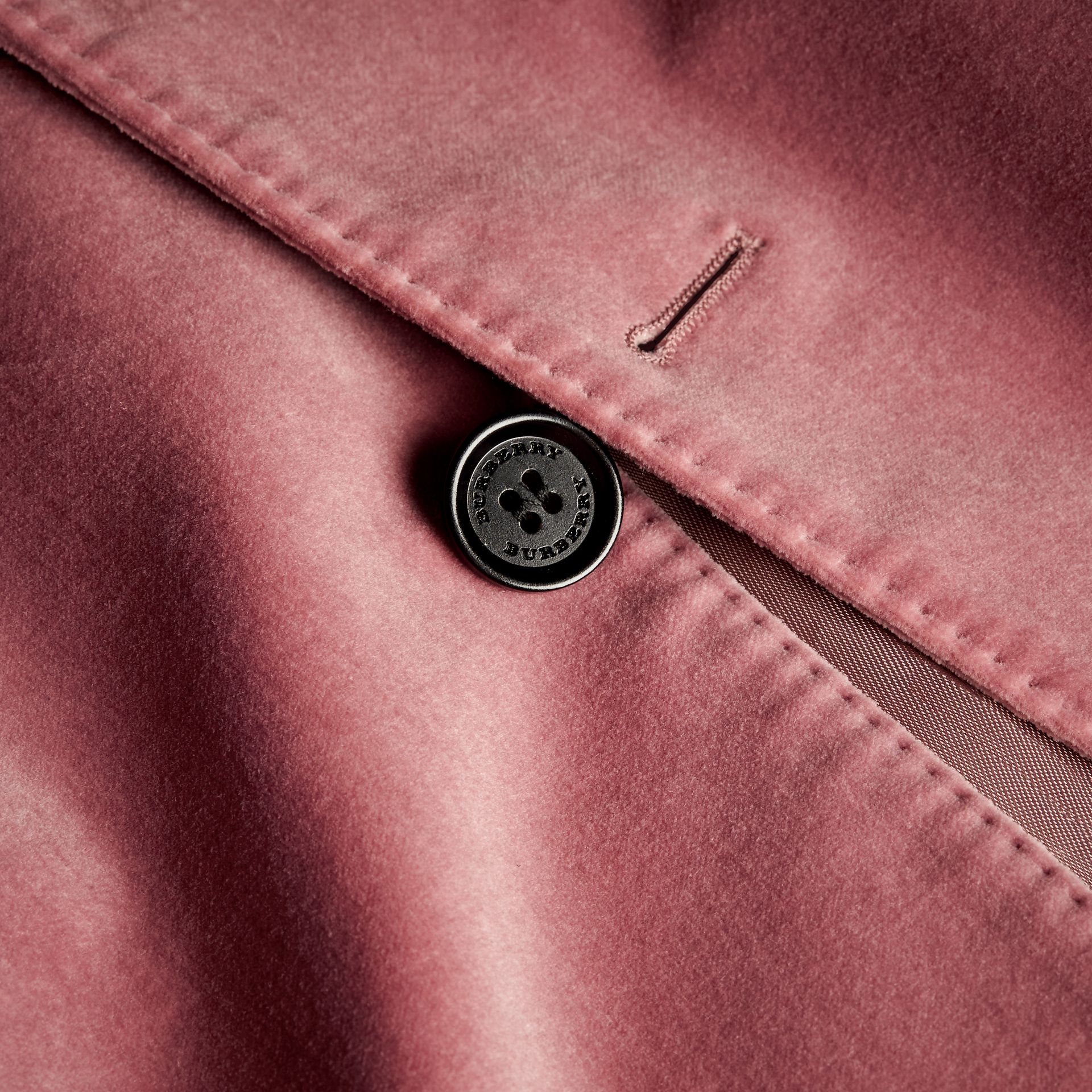 Rose pink Tailored Velvet Jacket - gallery image 2