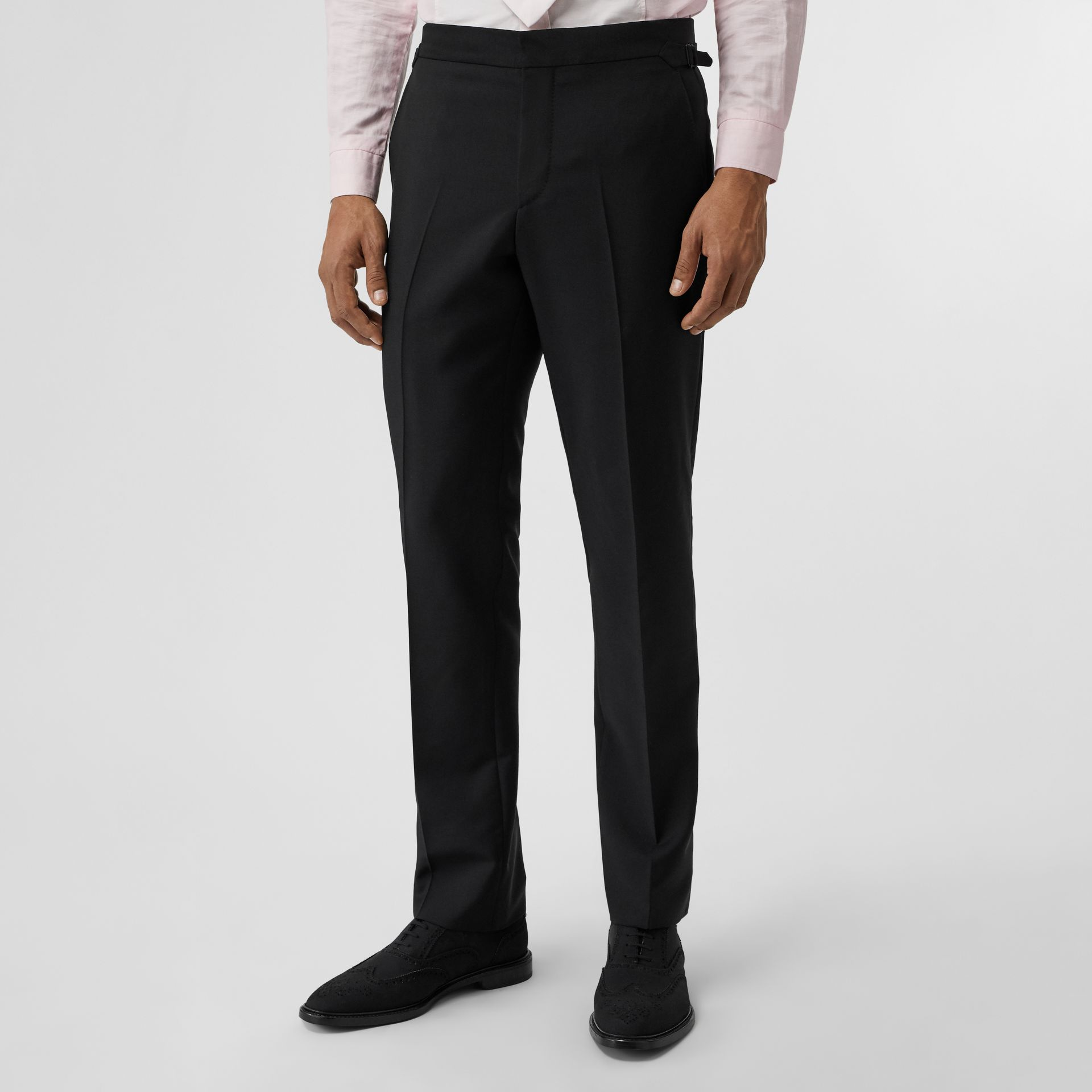 Slim Fit Wool Mohair Suit in Black - Men | Burberry United Kingdom - gallery image 5