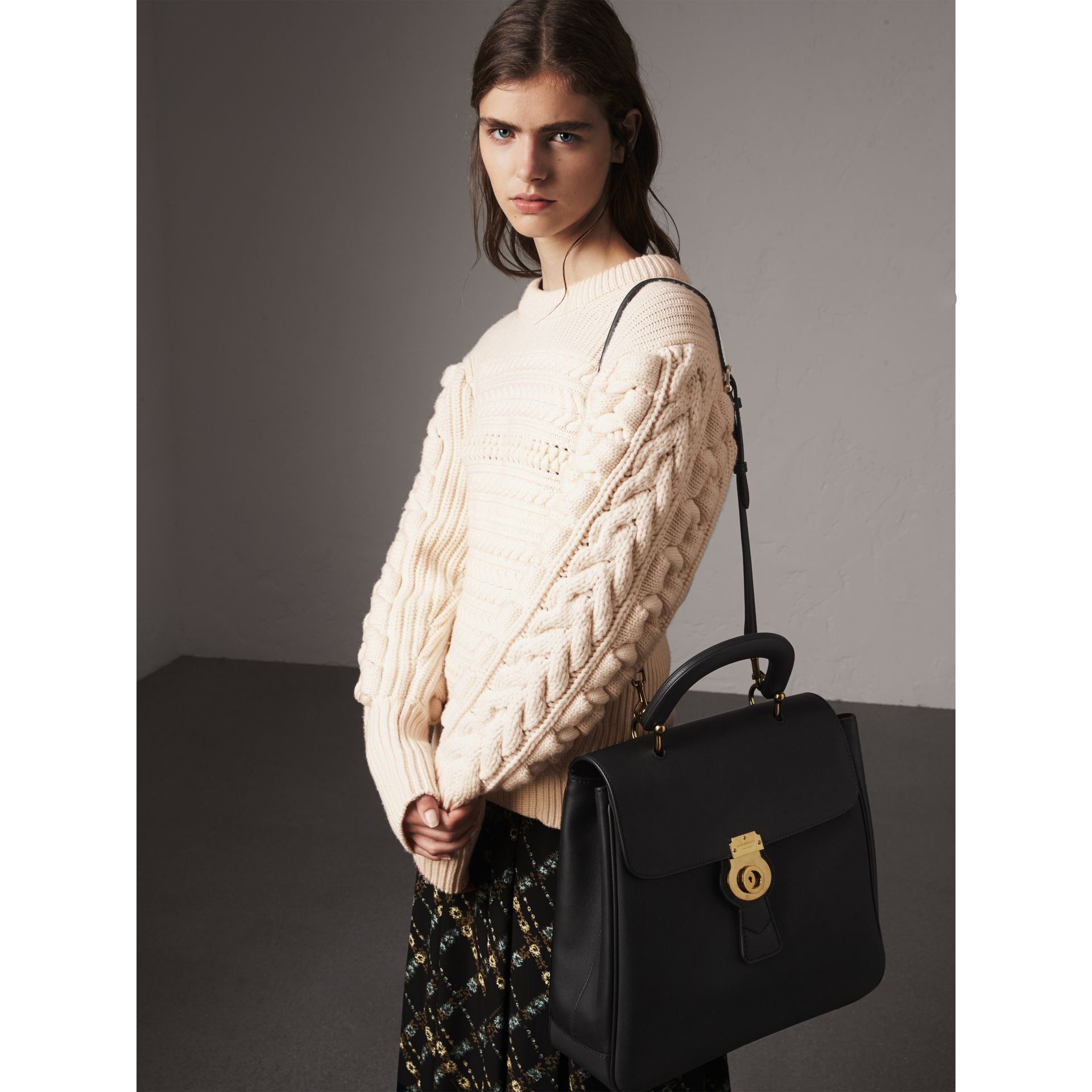 The Large DK88 Top Handle Bag in Black - Women | Burberry Australia - gallery image 3