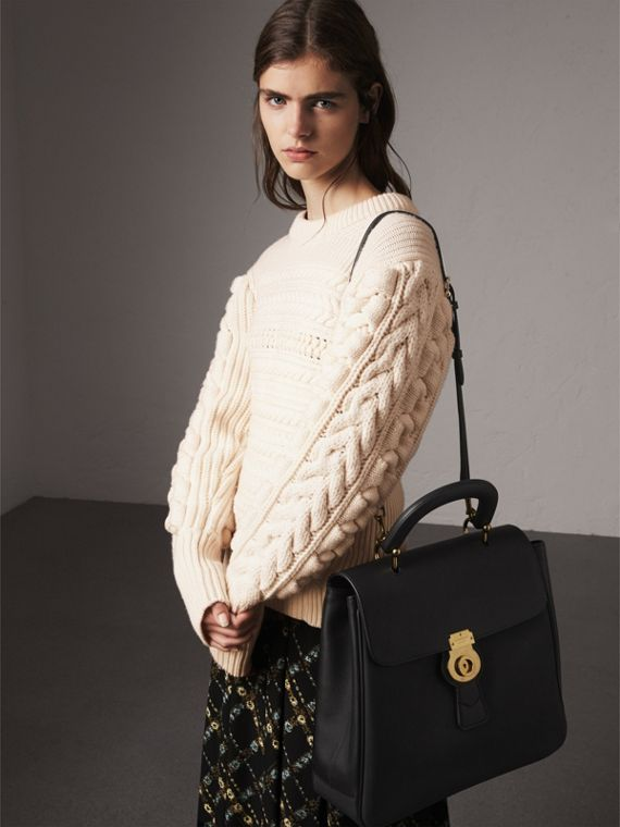 The Large DK88 Top Handle Bag in Black - Women | Burberry Singapore - cell image 3