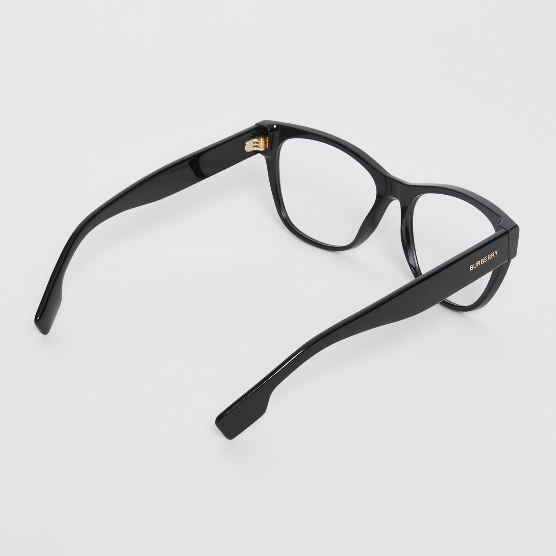 Square Optical Frames in Black - Women | Burberry United Kingdom - gallery image 4