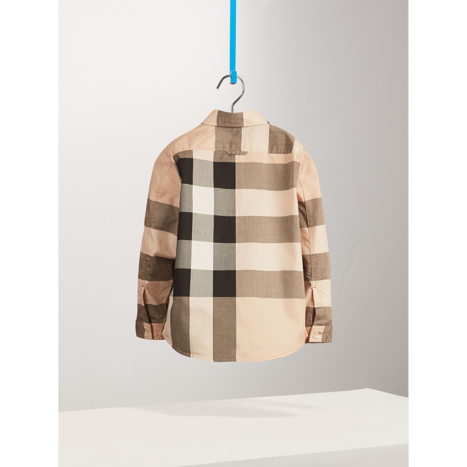 Check Cotton Shirt in New Classic - Boy | Burberry United States - gallery image 2