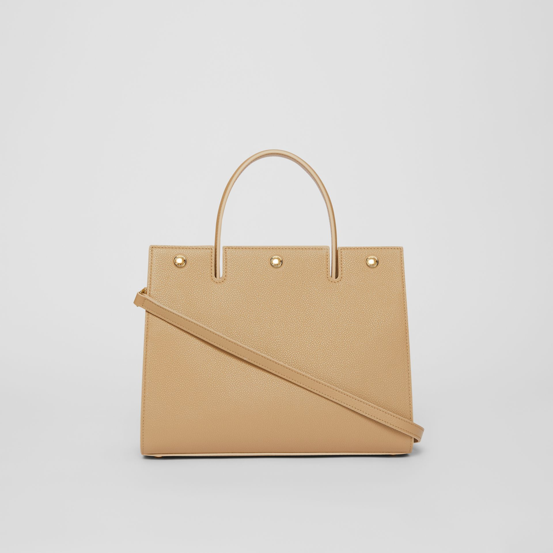 Small Leather Title Bag in Honey - Women | Burberry - gallery image 7