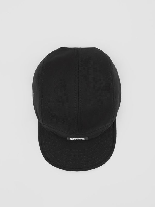 Logo Appliqué Cotton Twill Cap in Black | Burberry United States - cell image 3