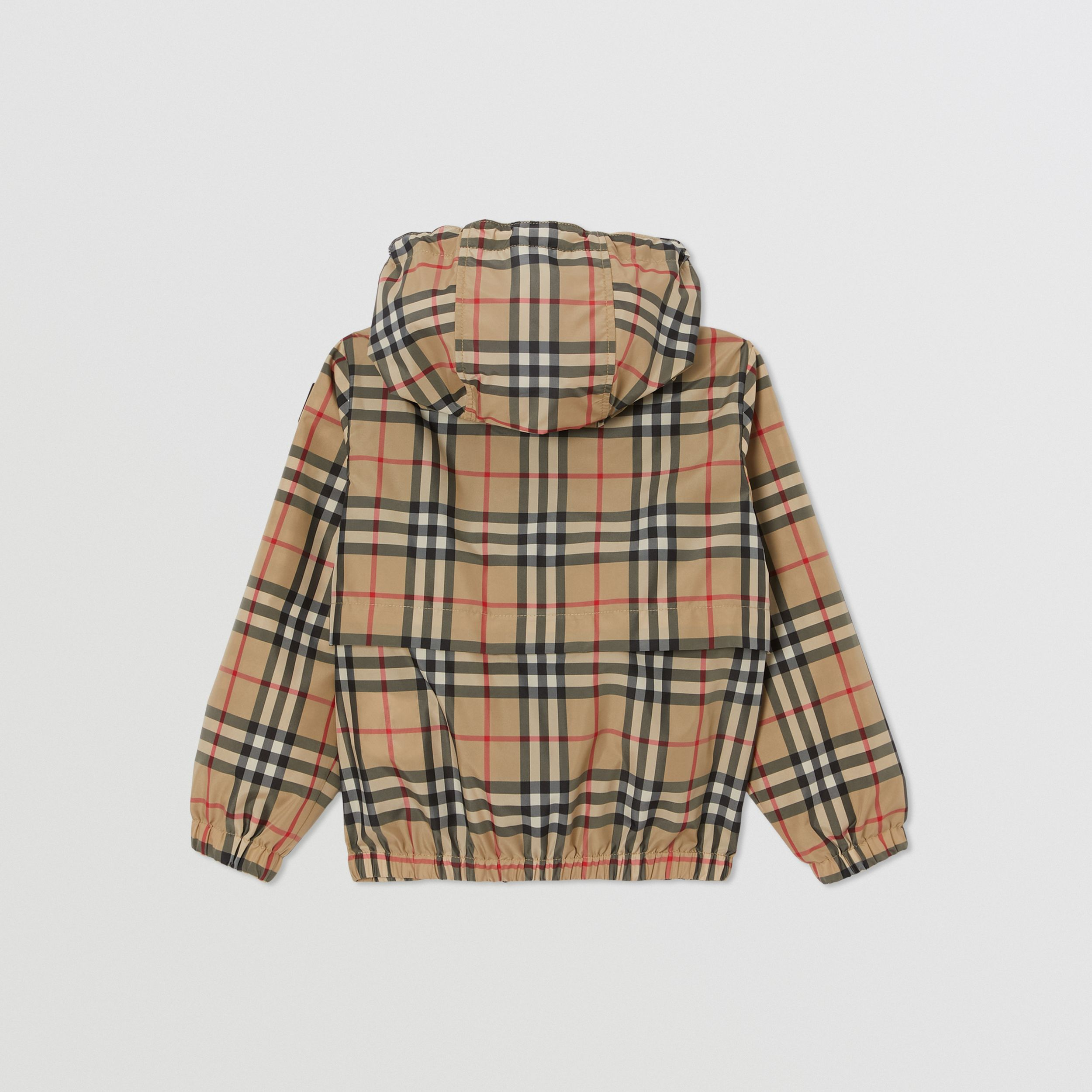 Vintage Check Lightweight Hooded Jacket in Archive Beige | Burberry - 4