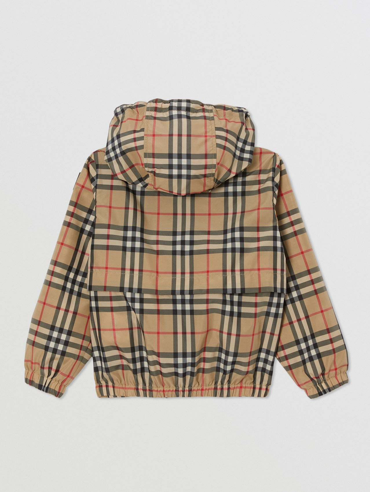 Vintage Check Lightweight Hooded Jacket in Archive Beige