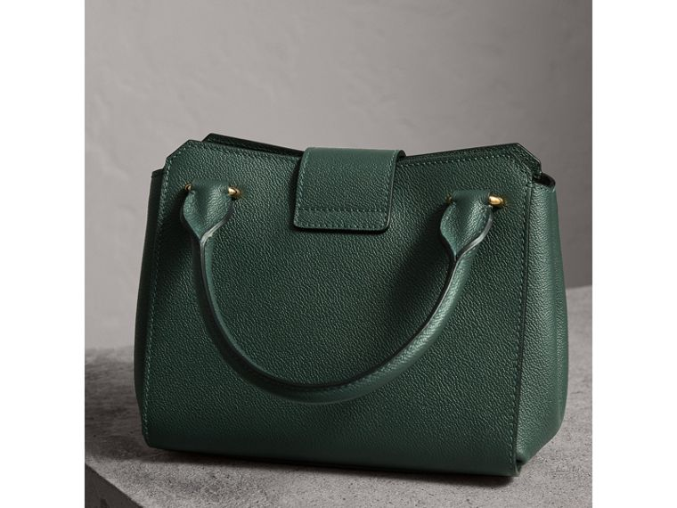 The Small Buckle Tote in Grainy Leather in Sea Green - Women | Burberry United Kingdom - cell image 4