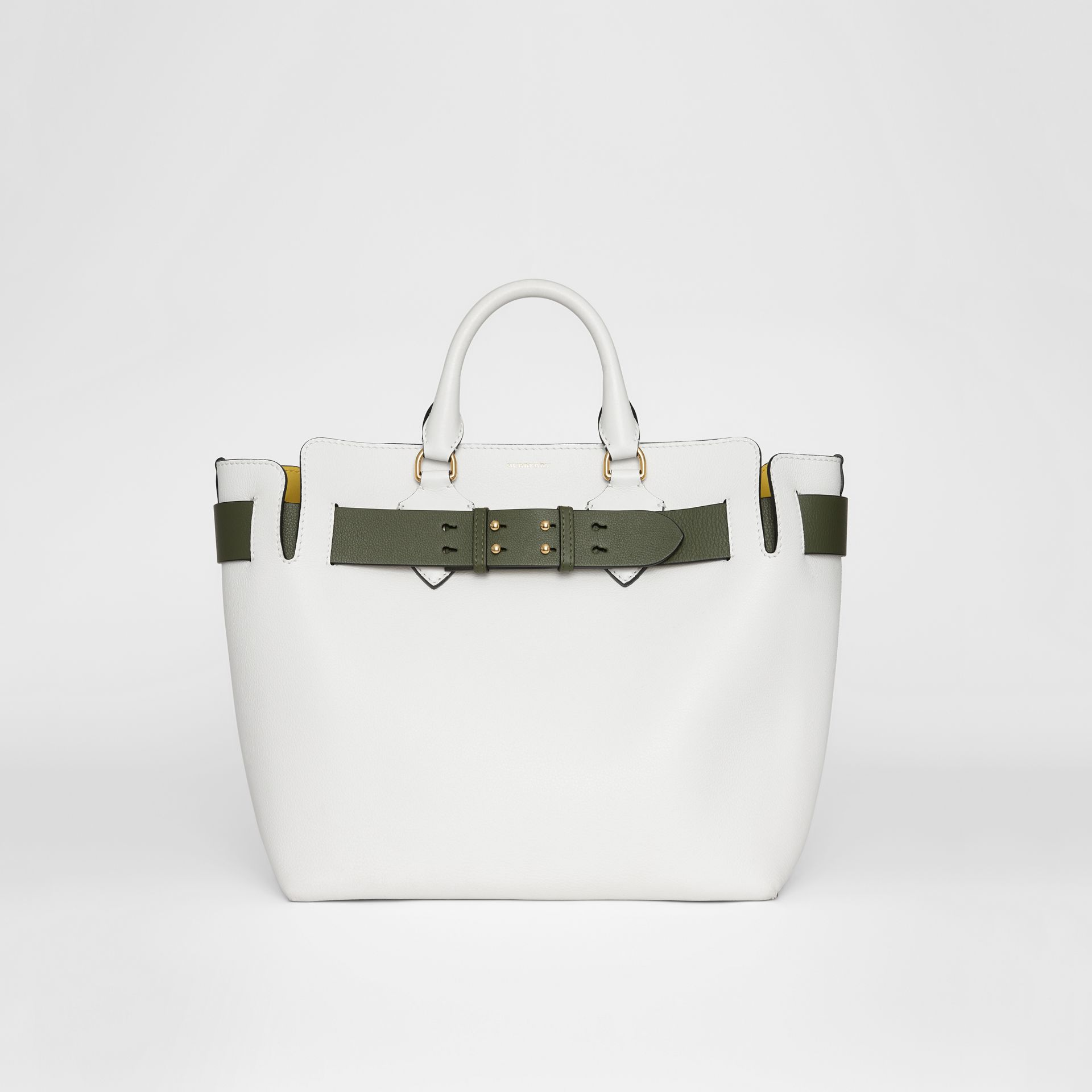 The Medium Leather Belt Bag in Chalk White - Women | Burberry United States - gallery image 0