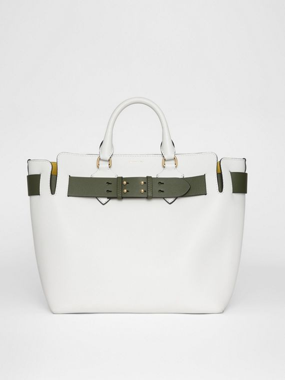 The Medium Leather Belt Bag in Chalk White