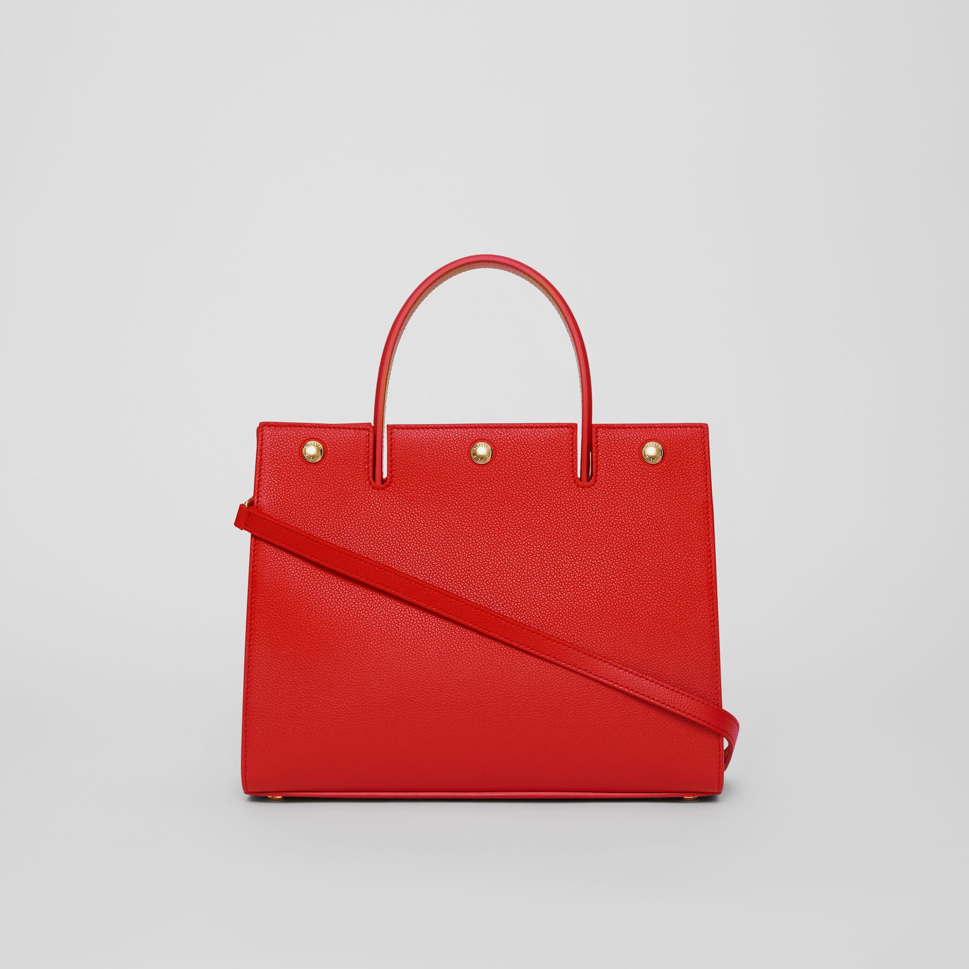 Small Leather Title Bag in Bright Red - Women | Burberry - gallery image 7