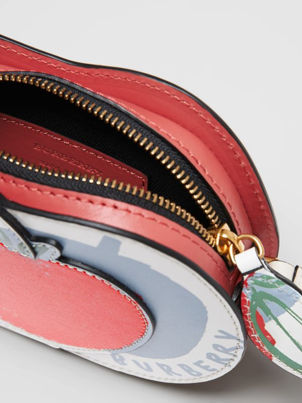 Apple Print Leather Crossbody Bag in Multicolour - Children | Burberry - cell image 3