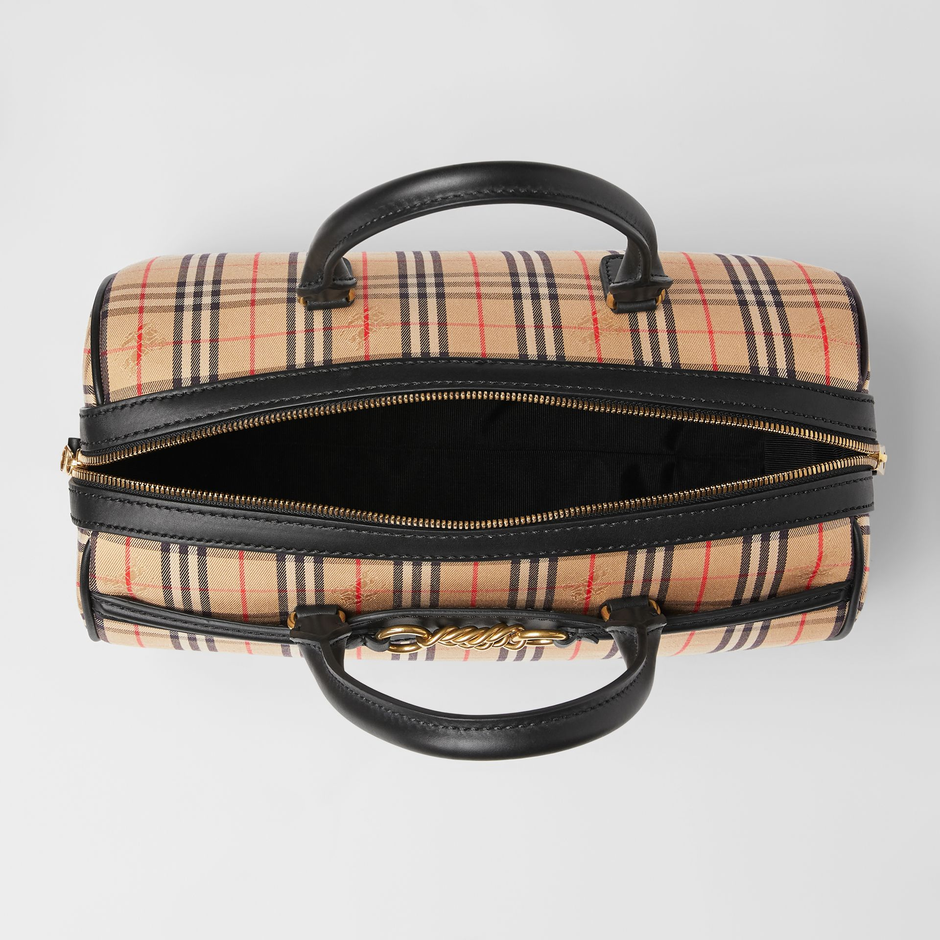 The Medium 1983 Check Link Bowling Bag in Black - Women | Burberry - gallery image 5
