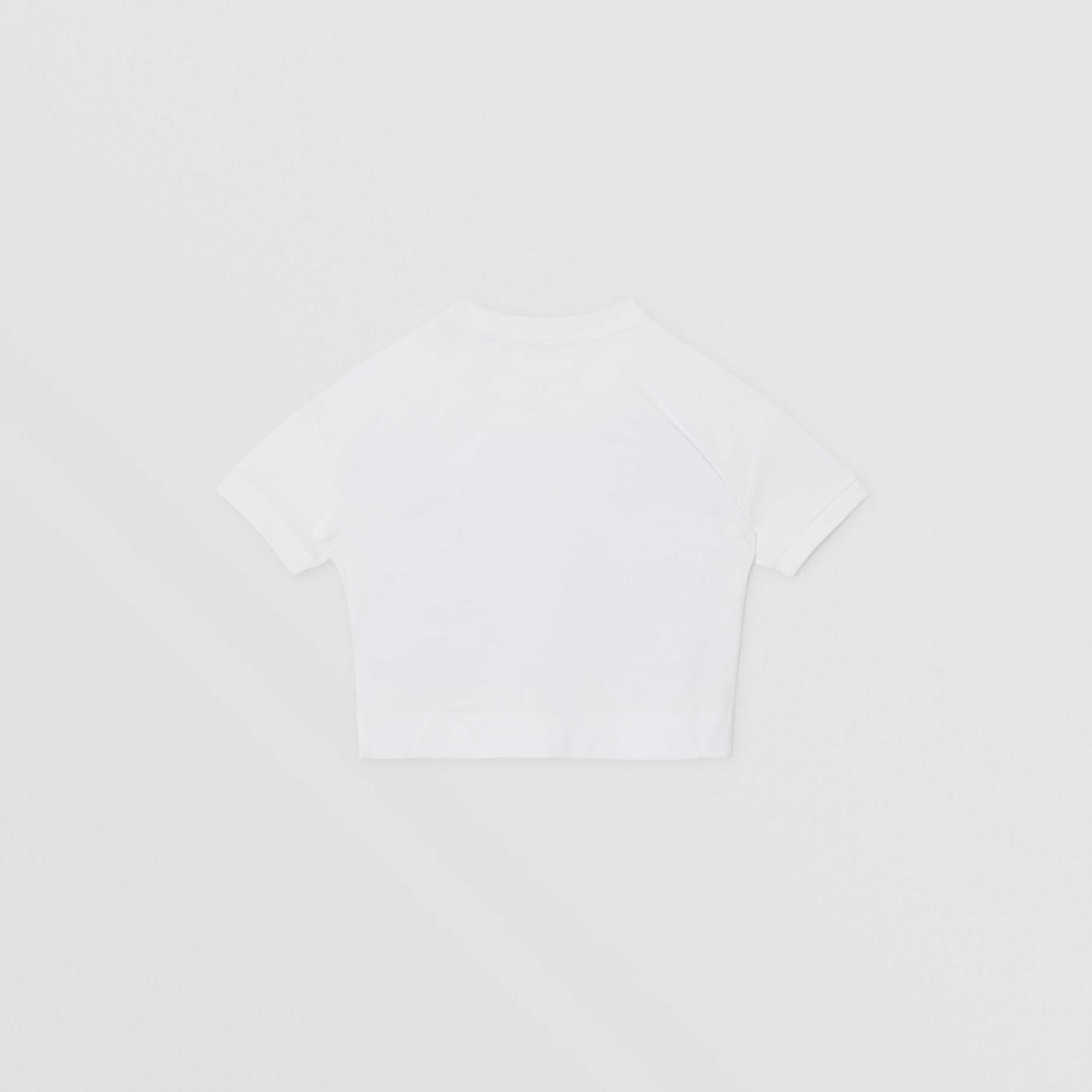 Confectionery Print Cotton T-shirt in White | Burberry - 4