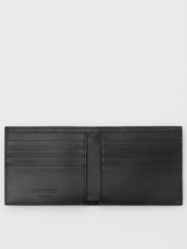 Monogram Leather International Bifold Wallet in Black - Men | Burberry United States - cell image 2