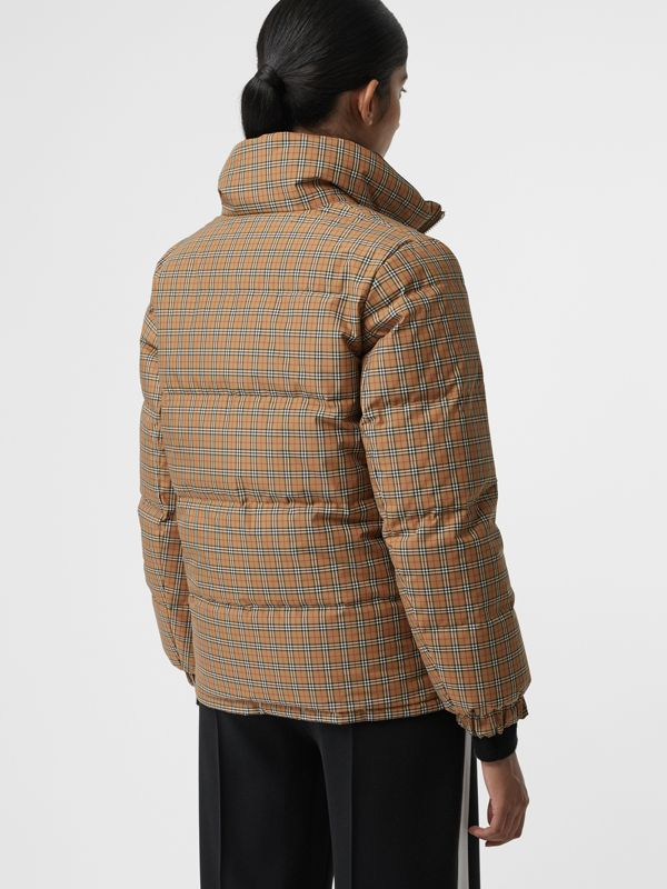 Vintage Check Reversible Puffer Jacket in Antique Yellow - Women | Burberry United Kingdom - cell image 2