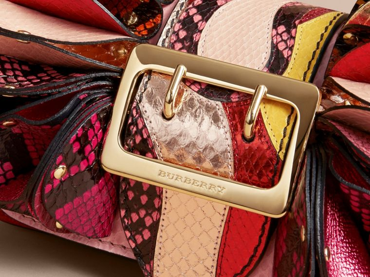 The Ruffle Buckle Bag in Snakeskin and Calf Leather - cell image 1