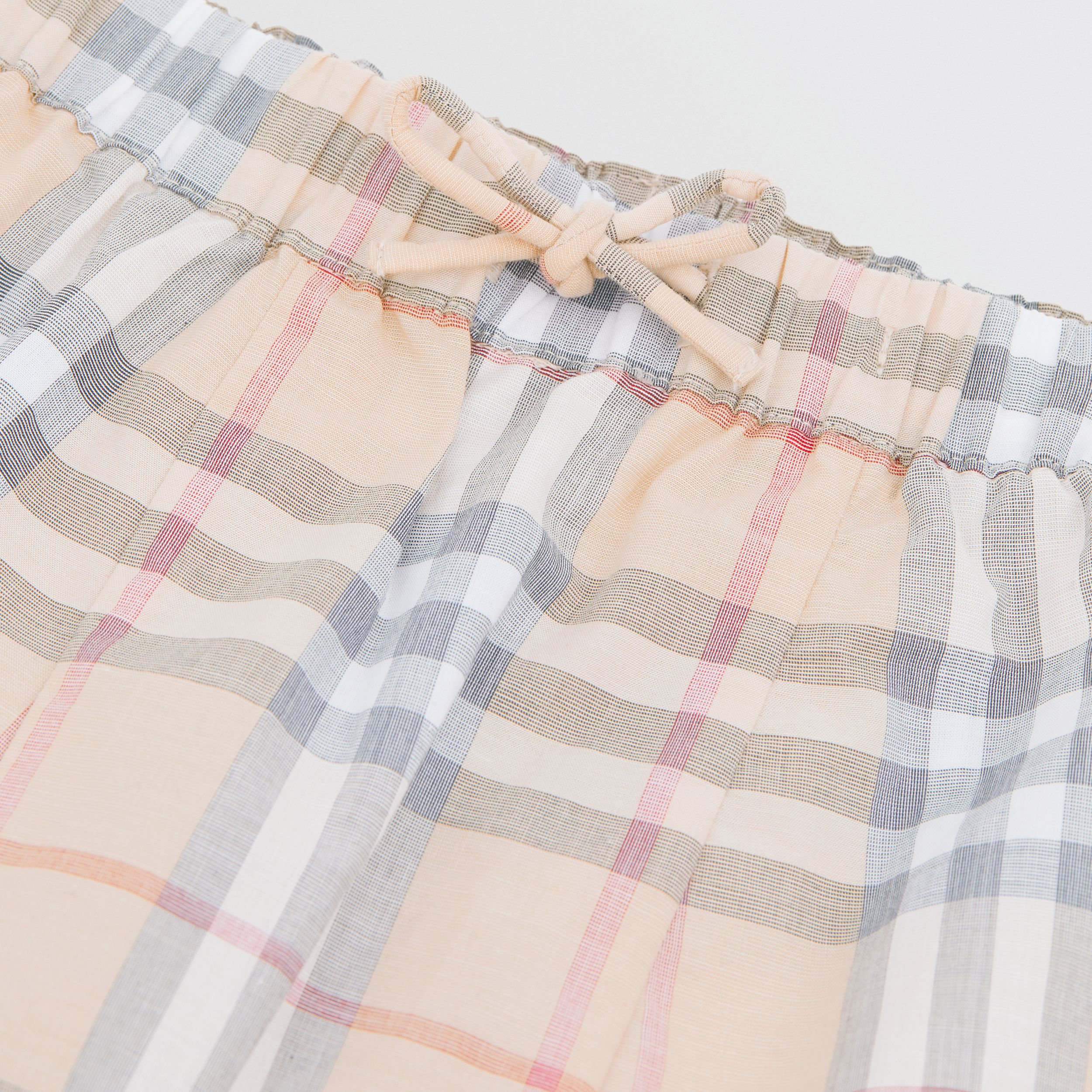 Vintage Check Cotton Drawcord Trousers in Pale Stone - Children | Burberry - 2