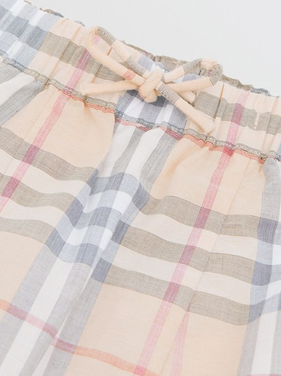 Vintage Check Cotton Drawcord Trousers in Pale Stone - Children | Burberry - cell image 1
