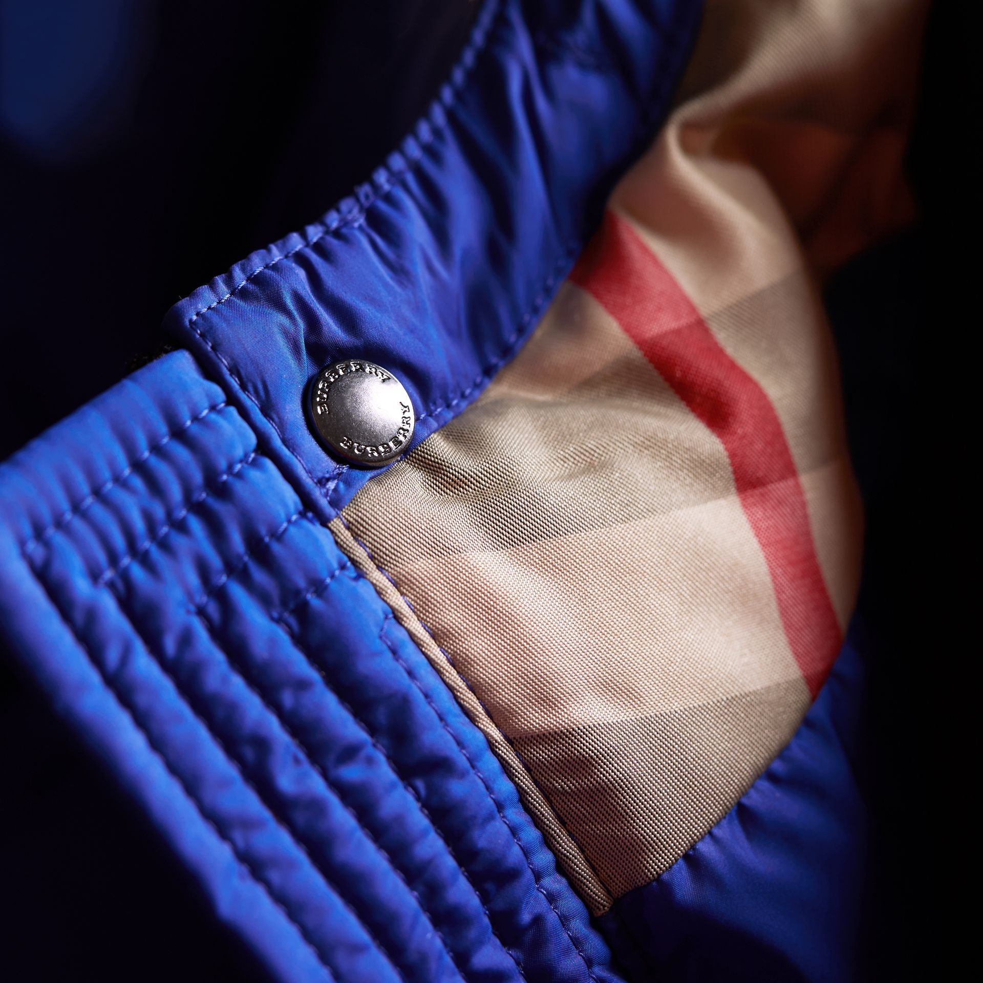 Down-filled Hooded Puffer Jacket in Brilliant Blue - Boy | Burberry - gallery image 1