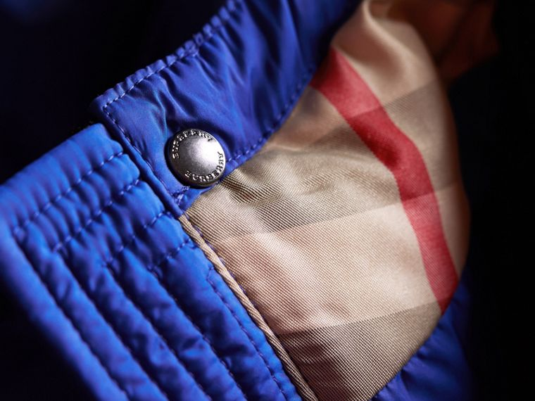 Down-filled Hooded Puffer Jacket in Brilliant Blue - Boy | Burberry - cell image 1