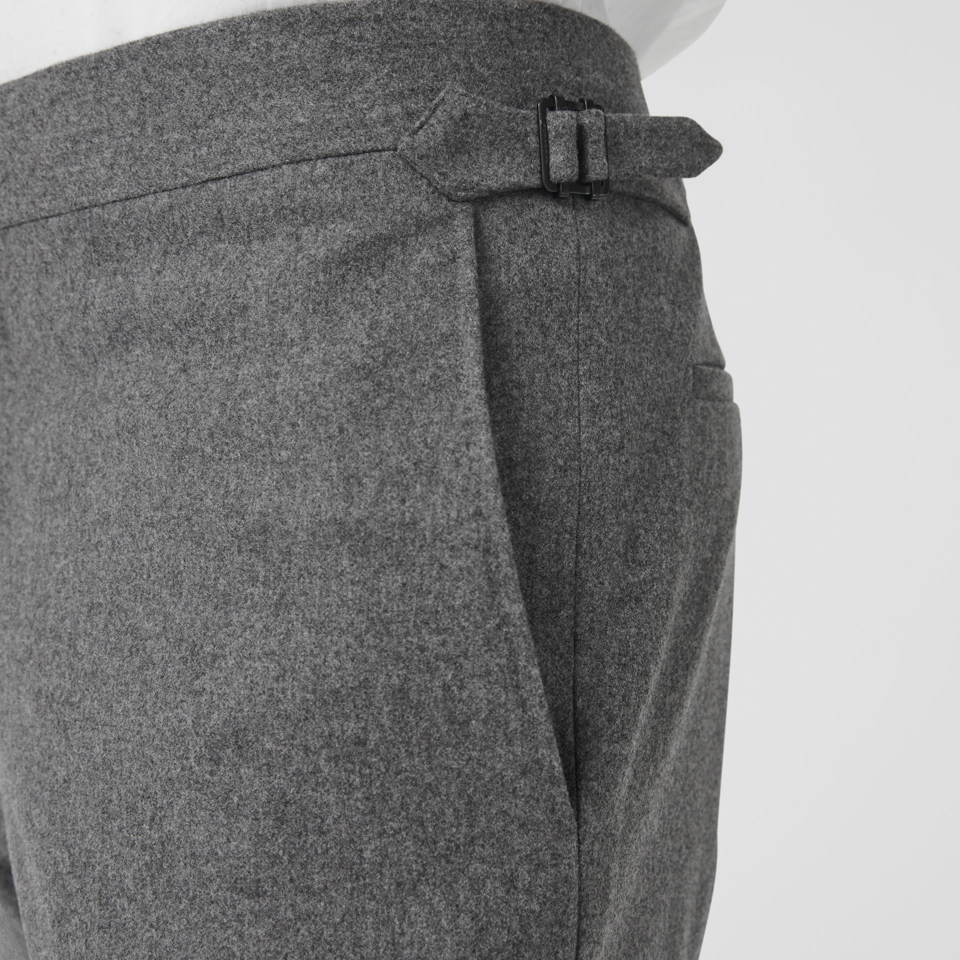 Classic Fit Wool Cashmere Tailored Trousers in Grey - Men | Burberry Canada - gallery image 1