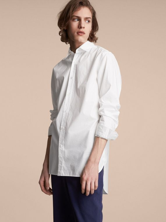 Japanese Cotton Poplin Shirt - Men | Burberry Australia