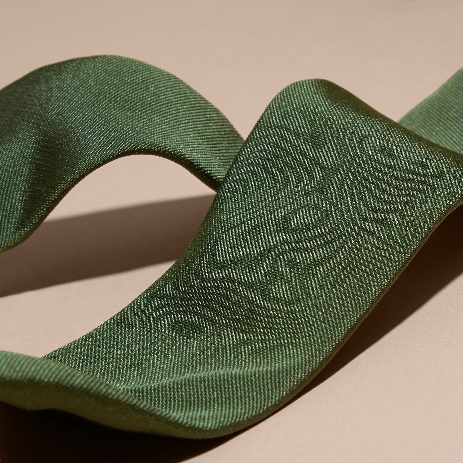 Dark forest green Modern Cut Silk Twill Tie Dark Forest Green - gallery image 2