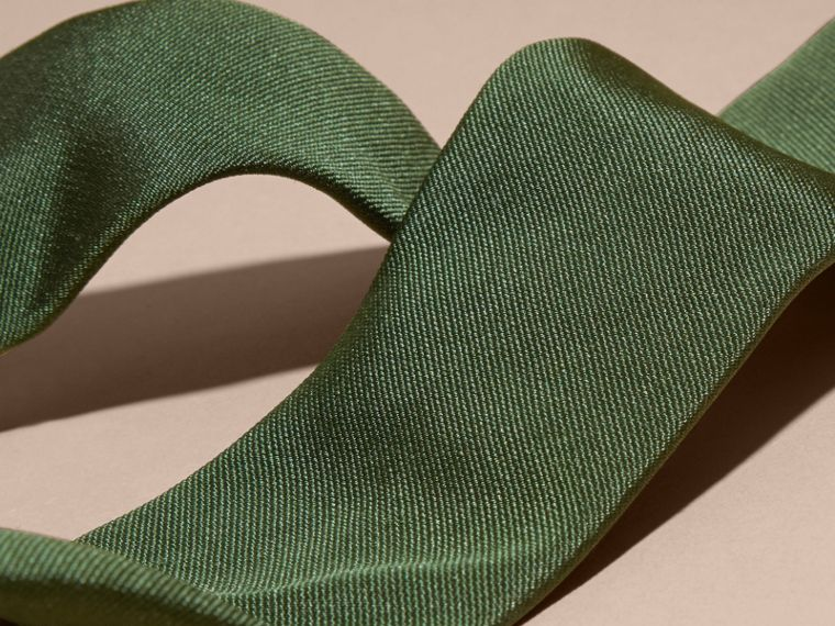 Dark forest green Modern Cut Silk Twill Tie Dark Forest Green - cell image 1