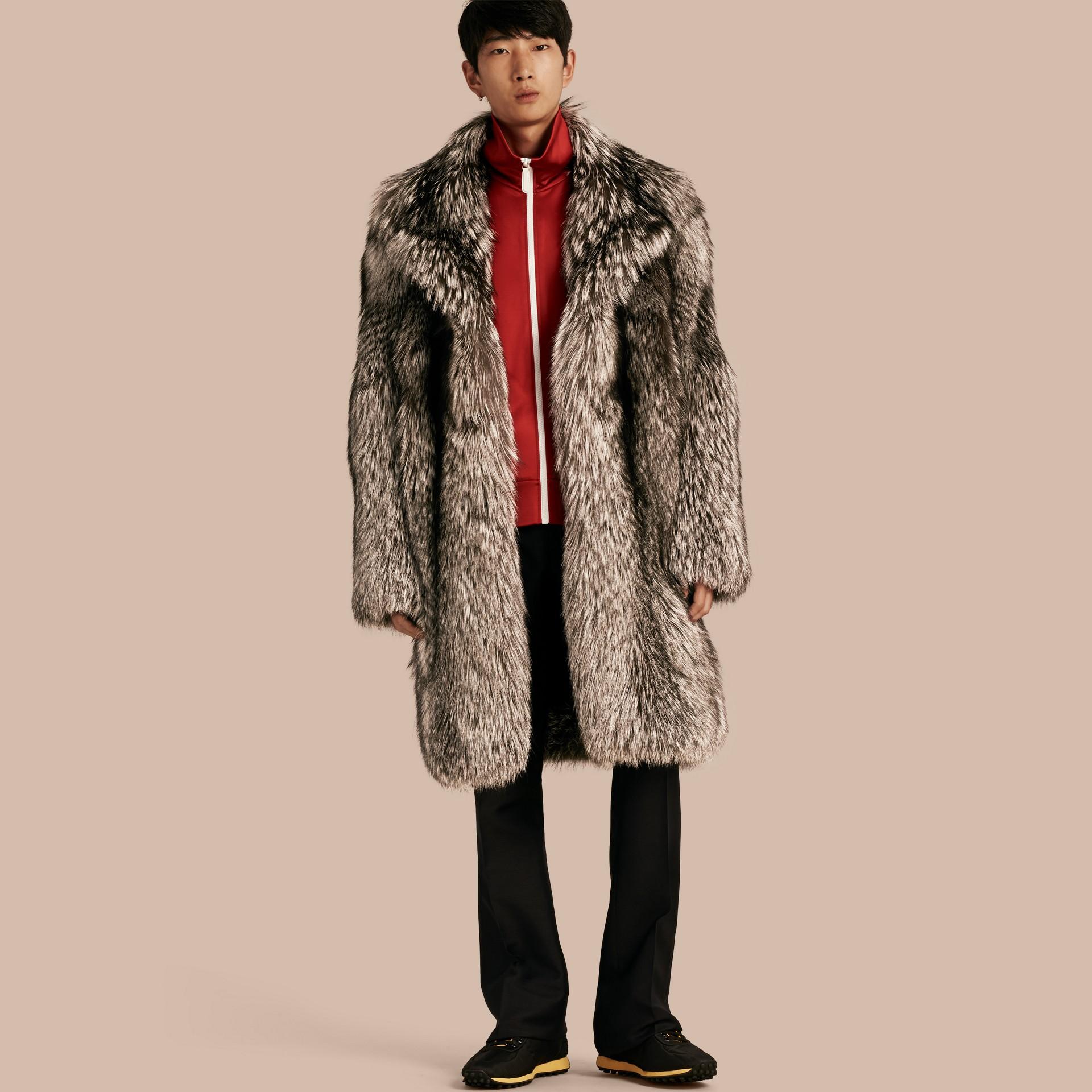 Natural Fox Fur Coat - gallery image 1