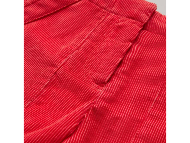 Corduroy Wide-leg Trousers in Bright Orange Red - Girl | Burberry - cell image 1