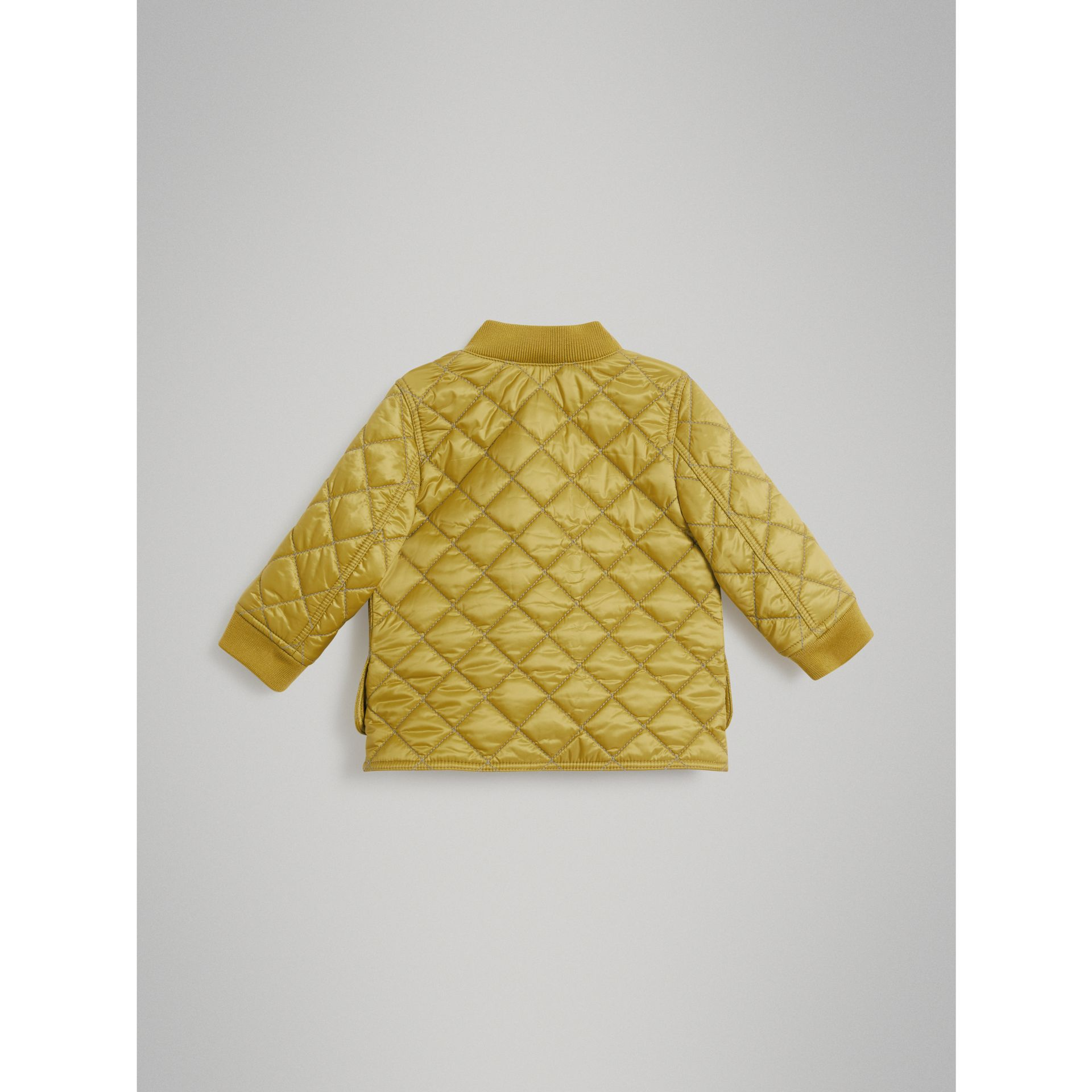 Lightweight Diamond Quilted Jacket in Saffron Yellow | Burberry - gallery image 3