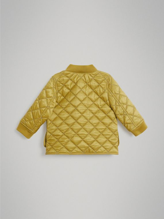 Lightweight Diamond Quilted Jacket in Saffron Yellow | Burberry - cell image 3