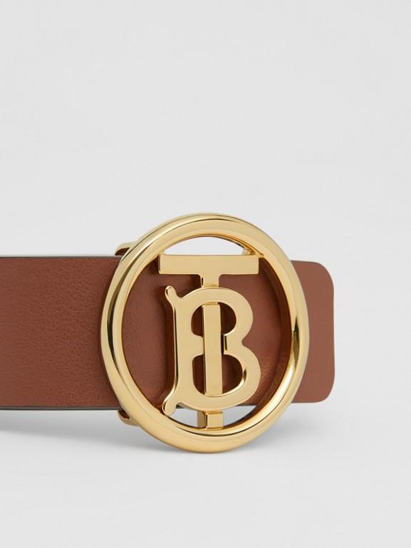 Monogram Motif Leather Bracelet in Tan - Women | Burberry - cell image 1