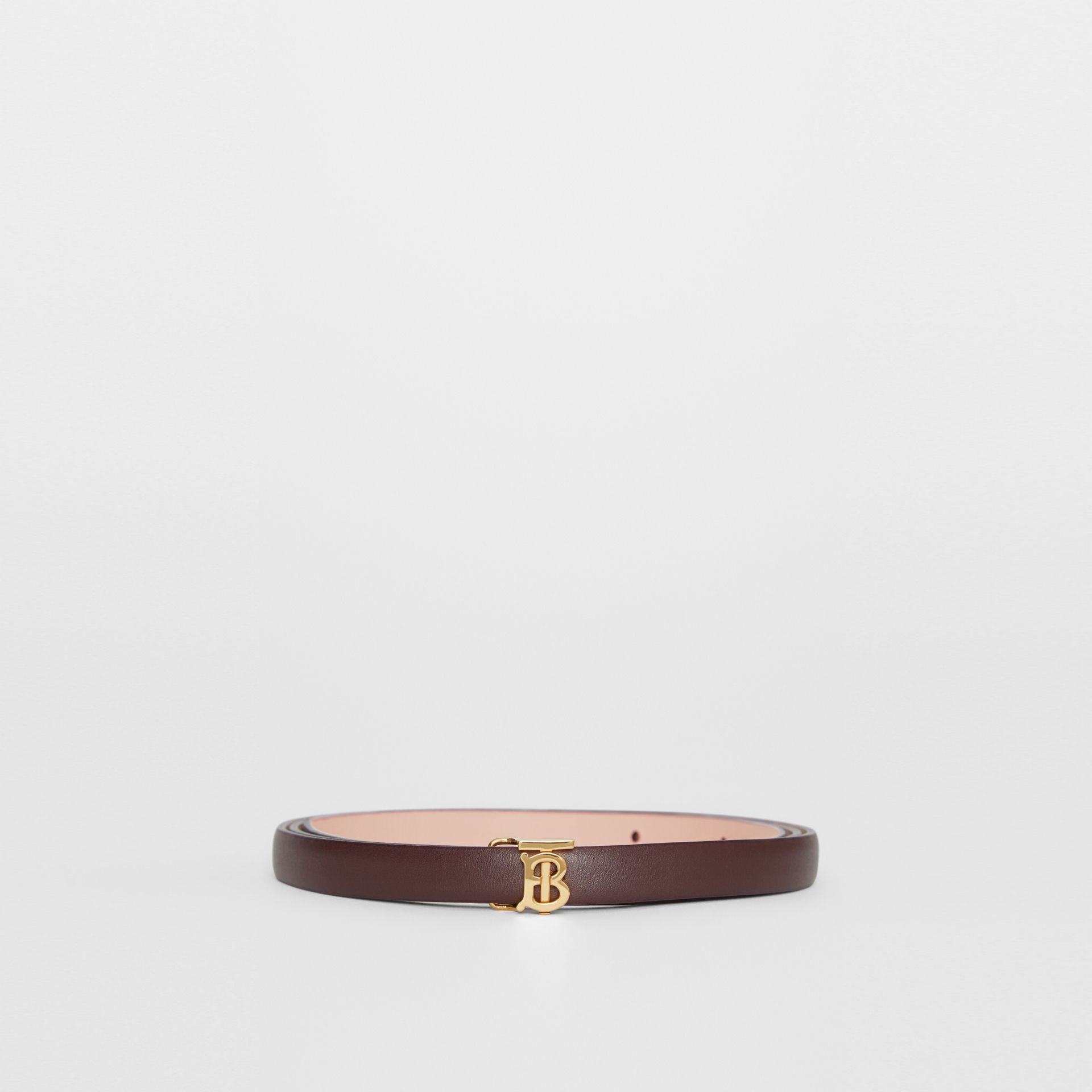 Reversible Monogram Motif Leather Wrap Belt in Oxblood/rose Beige - Women | Burberry - gallery image 3