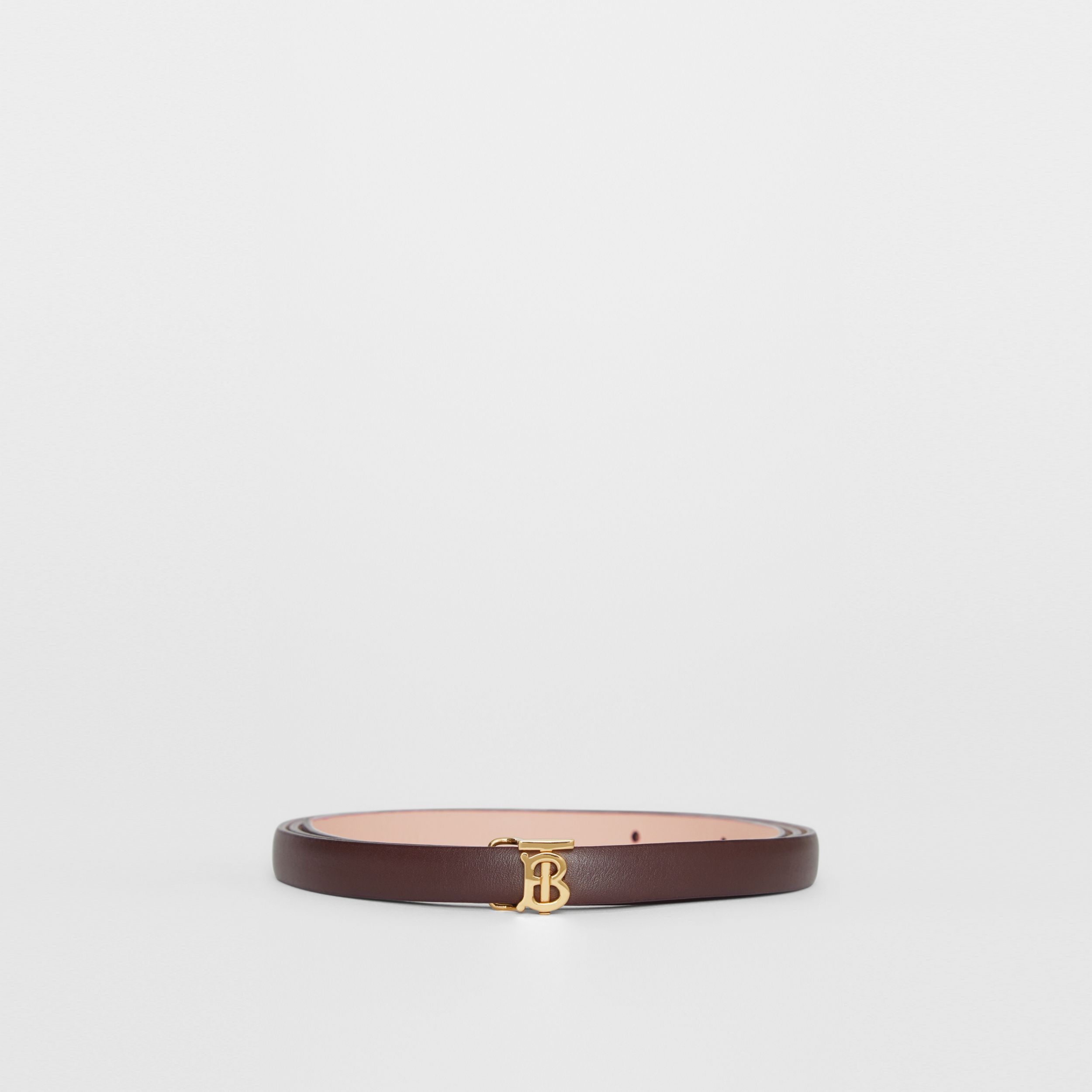 Reversible Monogram Motif Leather Wrap Belt in Oxblood/rose Beige - Women | Burberry United Kingdom - 4