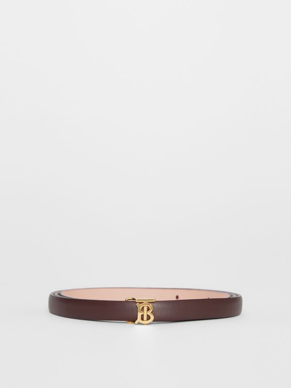 Reversible Monogram Motif Leather Wrap Belt in Oxblood/rose Beige - Women | Burberry - cell image 3