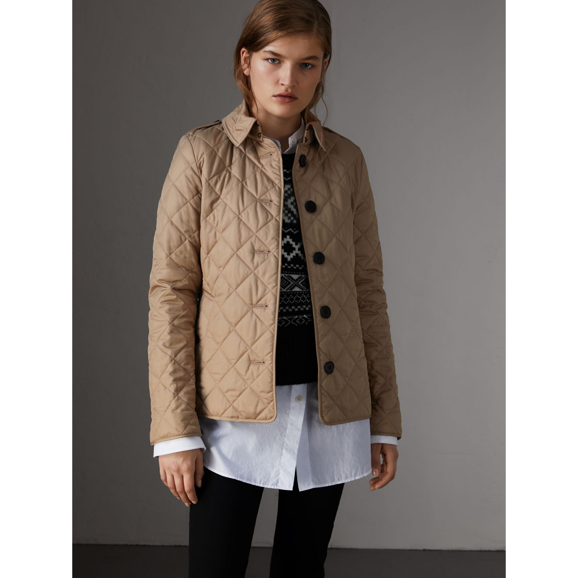 Jacke in Rautensteppung (Canvas) - Damen | Burberry - Galerie-Bild 0
