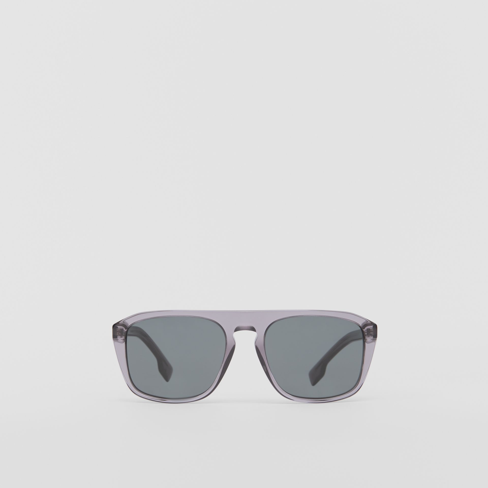 Square Frame Sunglasses in Grey - Men | Burberry United Kingdom - gallery image 0