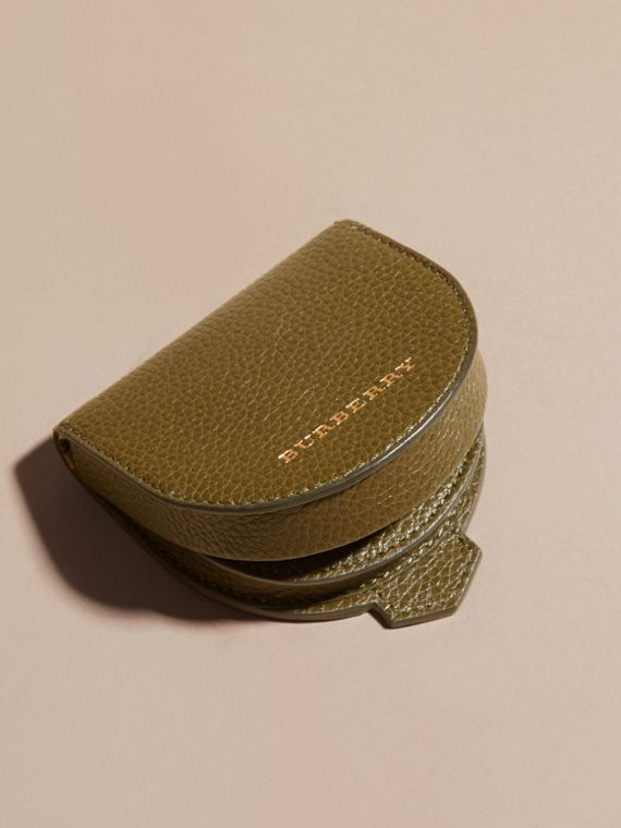 Olive green Grainy Leather Coin Case Olive Green - cell image 2