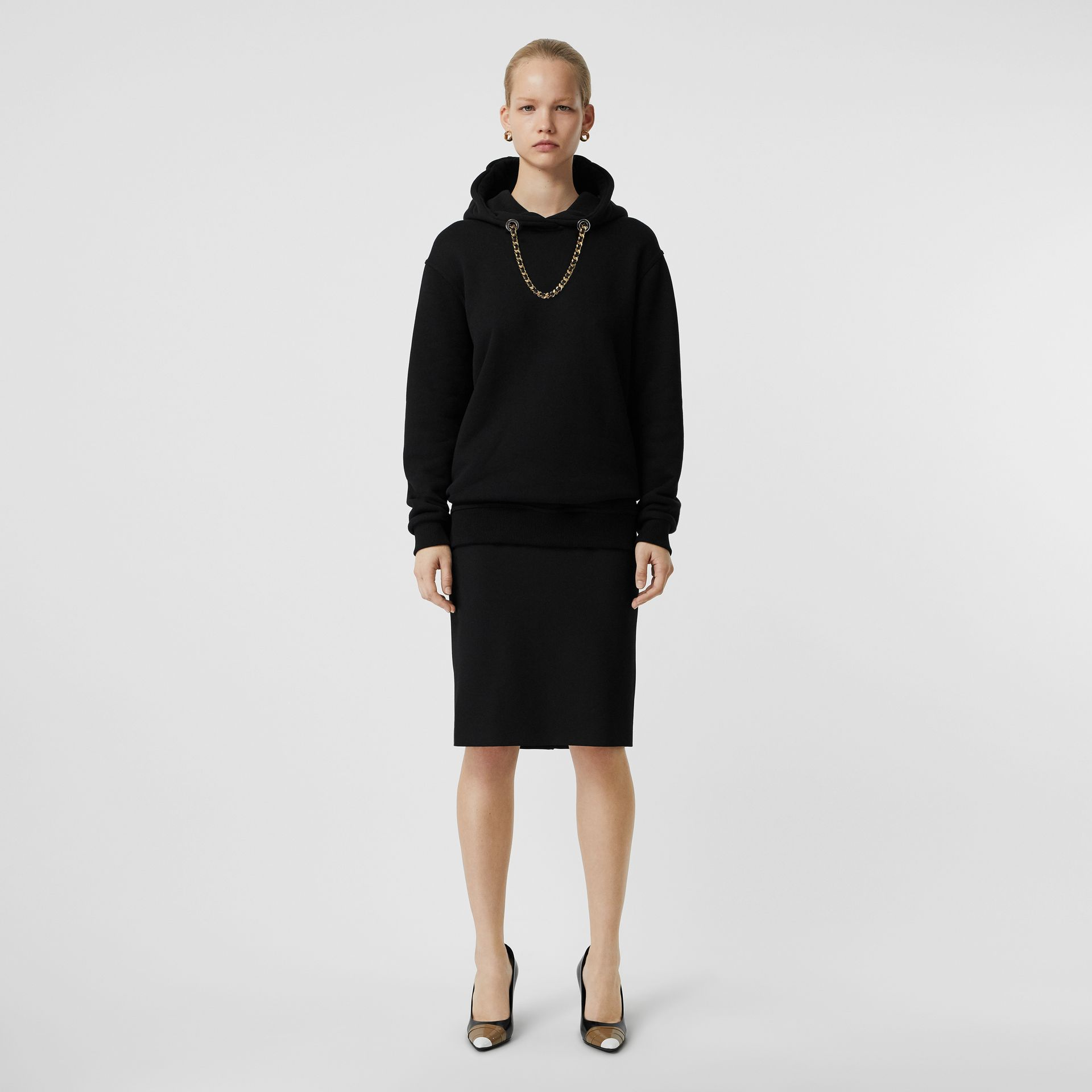 Wool High-waisted Pencil Skirt in Black - Women | Burberry Canada - gallery image 0