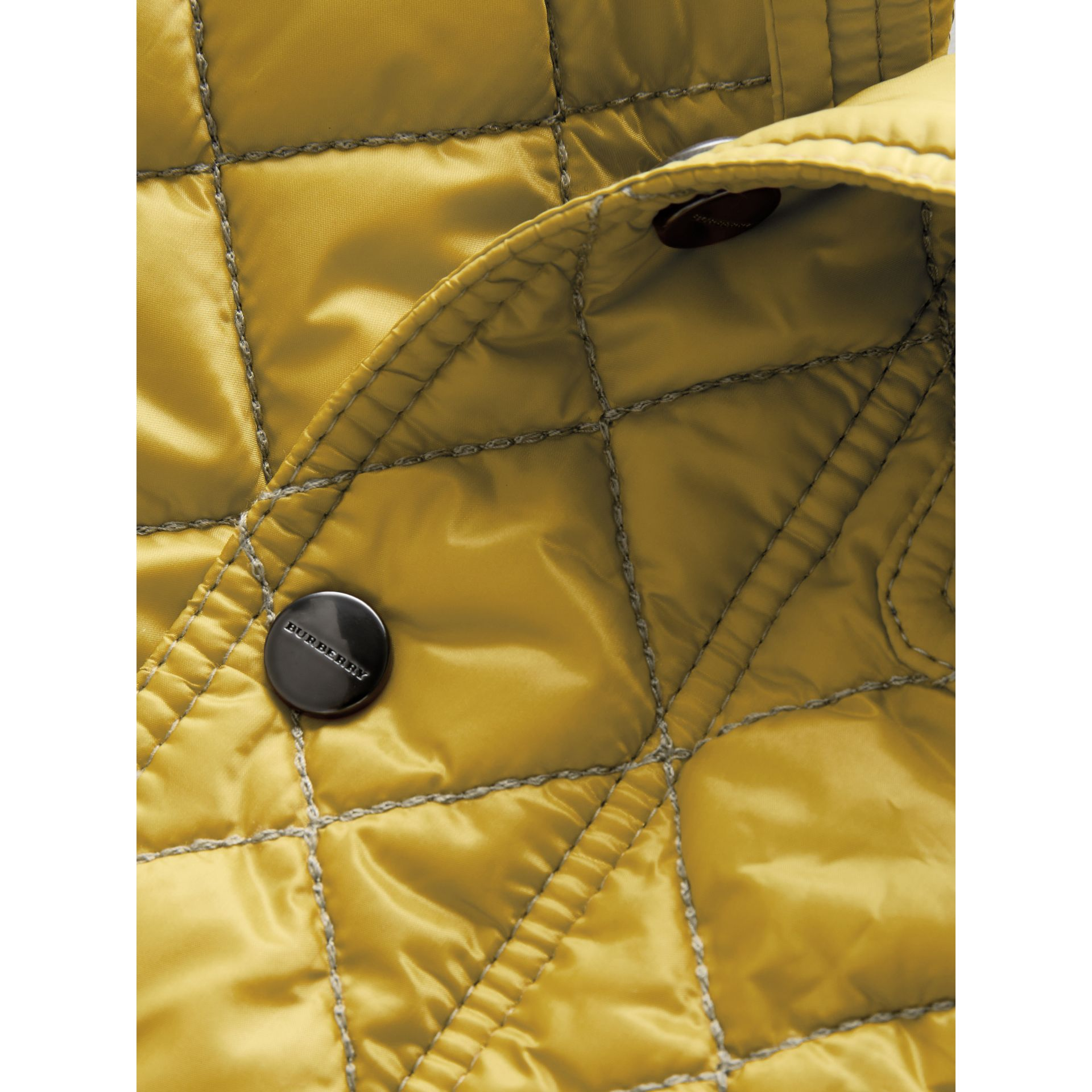 Lightweight Diamond Quilted Jacket in Saffron Yellow | Burberry - gallery image 1