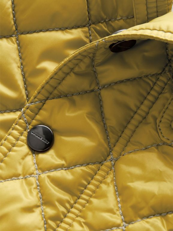 Lightweight Diamond Quilted Jacket in Saffron Yellow - Children | Burberry United Kingdom - cell image 1