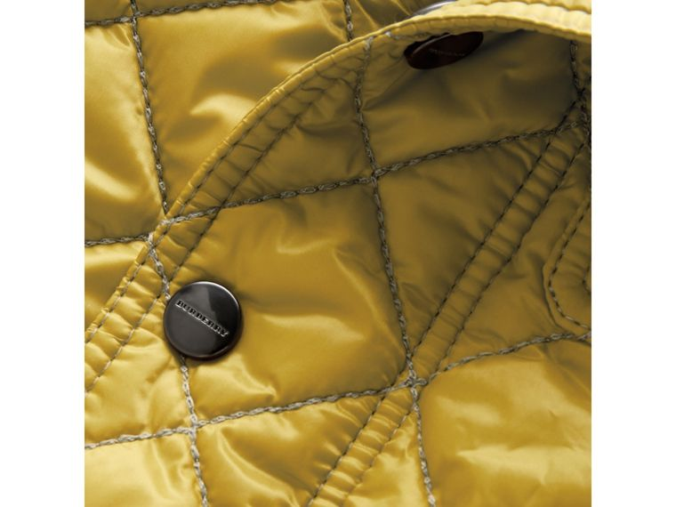 Lightweight Diamond Quilted Jacket in Saffron Yellow | Burberry - cell image 1