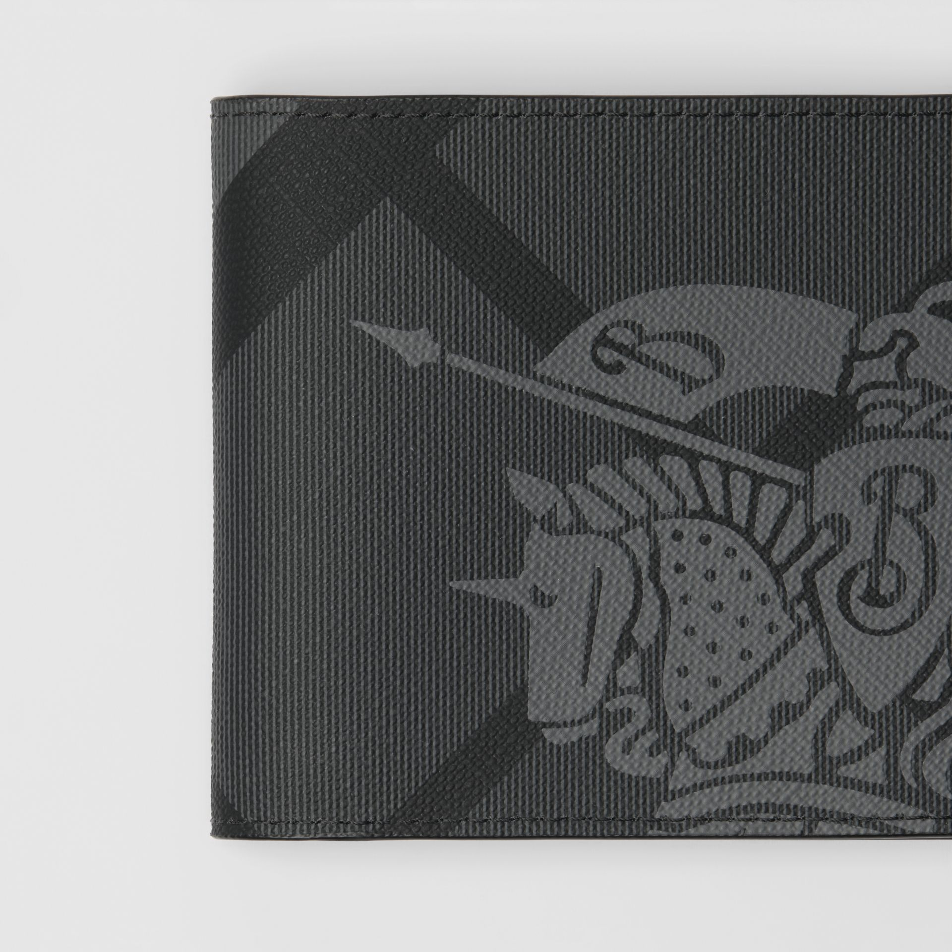 EKD London Check International Bifold Wallet in Charcoal/black - Men | Burberry Canada - gallery image 1