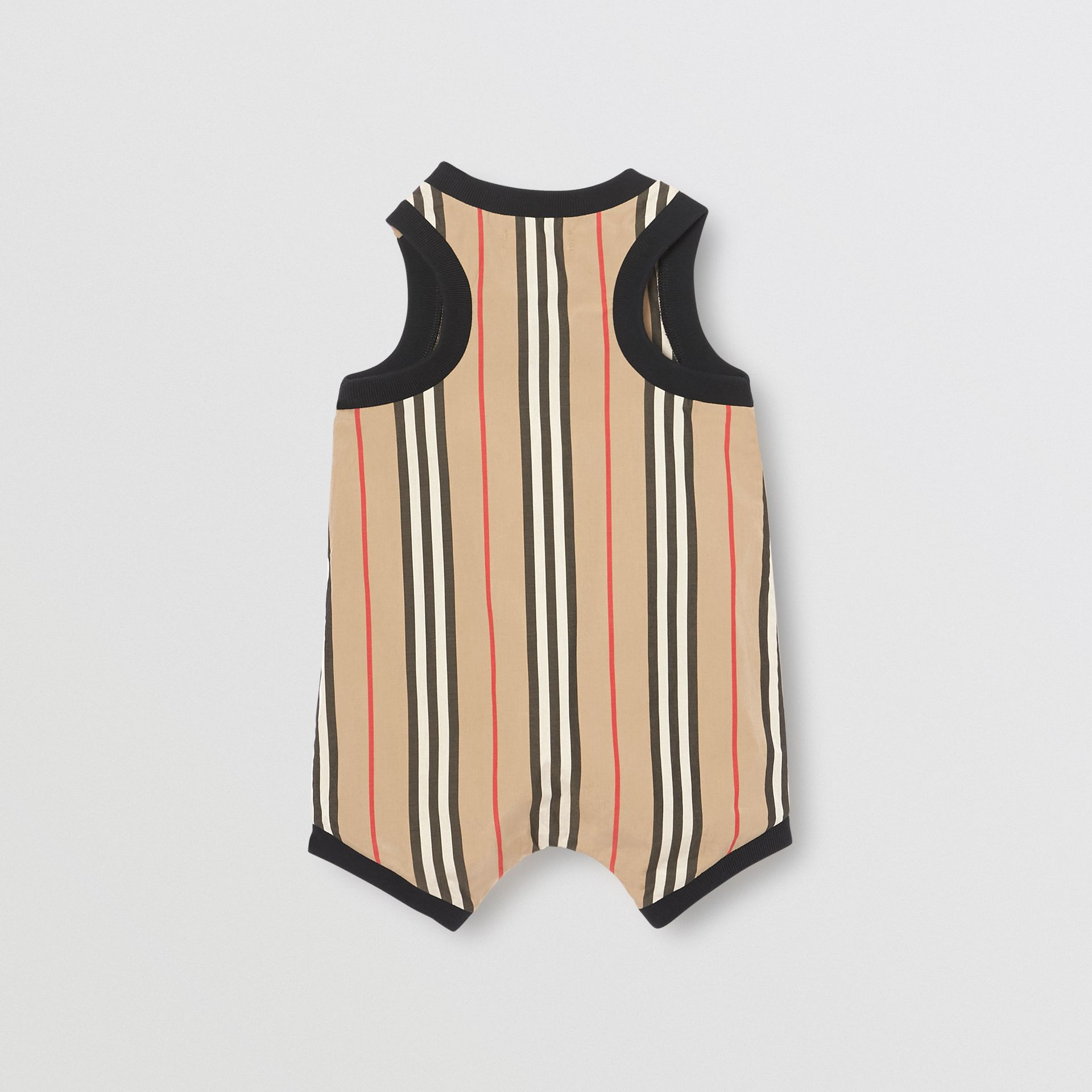 Icon Stripe Cotton Bodysuit in Archive Beige - Children | Burberry - gallery image 3