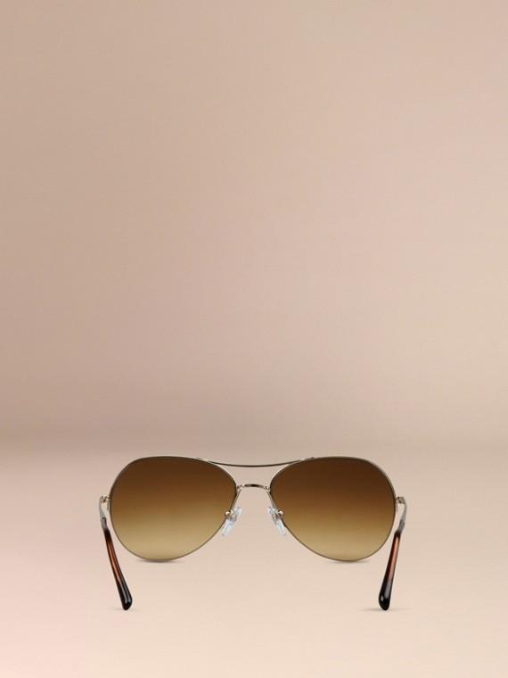 Pale gold Half-Frame Aviator Sunglasses - cell image 2