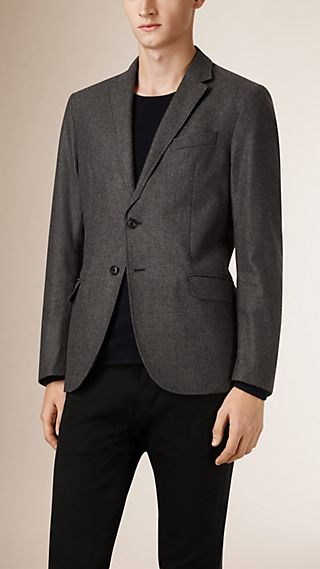 Modern Fit Reversible Wool Jacket